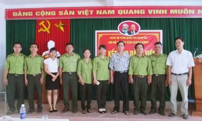 Vườn quốc gia Bạch Mã tổ chức lễ kết nạp đảng viên mới
