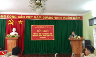 Đảng ủy Vườn quốc gia Bạch Mã tổ chức Hội nghị Tổng kết công tác xây dựng Đảng năm 2020 và triển khai nhiệm vụ năm 2021