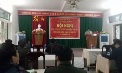 Đảng ủy Vườn quốc gia Bạch Mã tổ chức Hội nghị Tổng kết công tác xây dựng Đảng năm 2017 và phương hướng nhiệm vụ năm 2018
