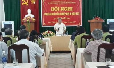 Hội nghị giao ban Khối lâm nghiệp Quý 3 của tỉnh Thừa Thiên Huế diễn ra tại Vườn quốc gia Bạch Mã