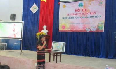 """Vườn quốc gia Bạch Mã phối hợp với trường THCS Dân tộc nội trú huyện Nam Đông tổ chức Hội thi vẽ tranh và hung biện với chủ đề: """"Chung sức bảo vệ màu xanh Bạch Mã quê em"""""""