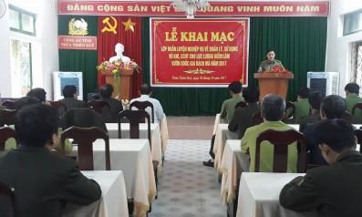 Vườn quốc gia Bạch Mã phối hợp với Công an tỉnh Thừa Thiên Huế tổ chức khóa huấn luyện nghiệp vụ về quản lý, sử dụng vũ khí và công cụ hỗ trợ cho lực lượng Kiểm lâm