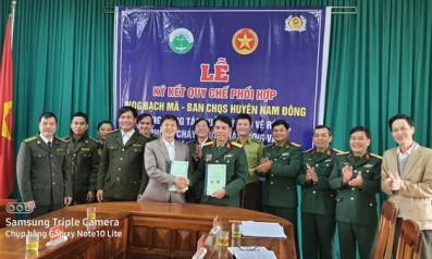 Vườn quốc gia Bạch Mã ký quy chế phối hợp trong công tác quản lý bảo vệ rừng với Ban chỉ huy quân sự huyện Nam Đông và hạt Kiểm lâm huyện Nam Đông