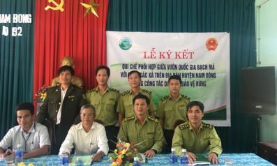Vườn quốc gia Bạch Mã ký quy chế phối hợp trong công tác quản lý bảo vệ rừng với các xã trên địa bàn huyện Nam Đông