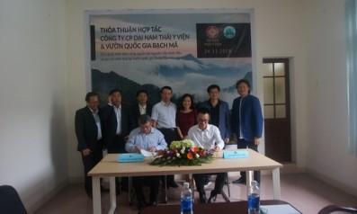 Vườn quốc gia Bạch Mã ký Thỏa thuận hợp tác về việc phát triển bền vững nguồn tài nguyên cây dược liệu và du lịch sinh thái