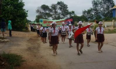 Vườn quốc gia Bạch Mã tổ chức diễu hành, cổ động bảo vệ rừng trên địa bàn huyện Phú Lộc và Nam Đông, tỉnh Thừa Thiên Huế