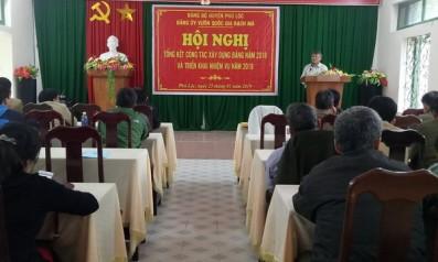 Đảng ủy Vườn quốc gia Bạch Mã tổ chức Hội nghị Tổng kết công tác xây dựng Đảng năm 2018 và triển khai nhiệm vụ năm 2019
