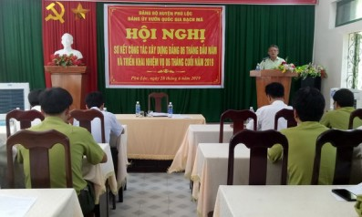 Đảng ủy Vườn quốc gia Bạch Mã ổ chức Hội nghị sơ kết công tác xây dựng Đảng 6 tháng đầu năm và triển khai nhiệm vụ 6 tháng cuối năm 2019